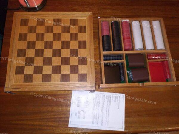 Collectible Marlboro Miles Backgammon + Checkers set