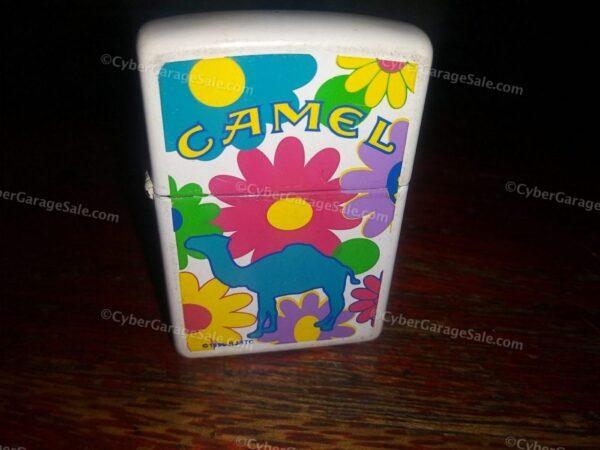 "Used Vintage 1996 Camel Cigarettes ""Flower Power"" Zippo Lighter"