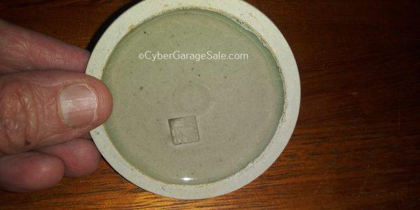 Somayaki ware sugar dish with lid - chipped