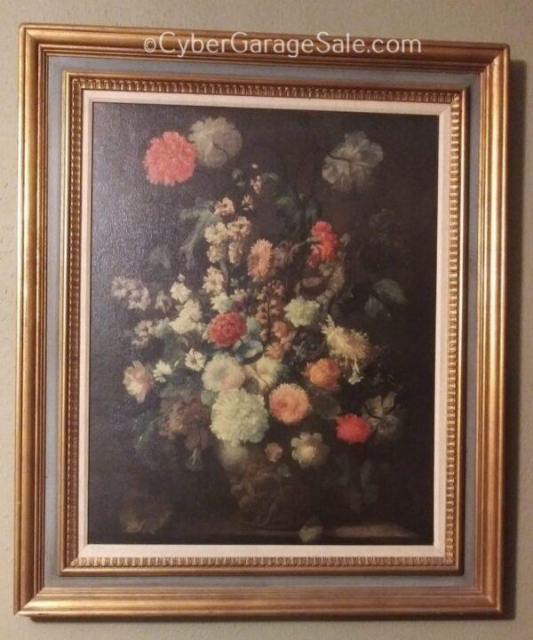 Framed Flowers Print by Franz Werner von Tamm