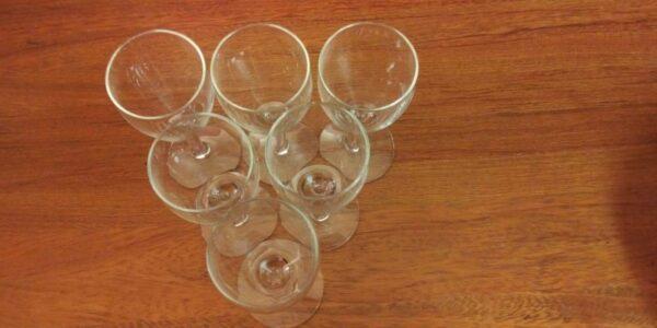 set of 7 vintage goblets / glasses / cups