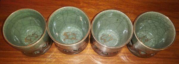 Set of 6 Large Somayaki Ware Cups