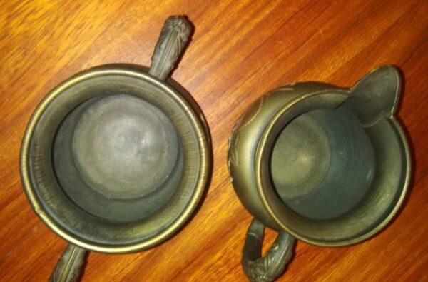 Vintage Superior Silver plate Company Quadruple Plated 0270 Creamer and Sugar Set