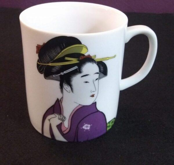 1a Purple Kimono Geisha Mug