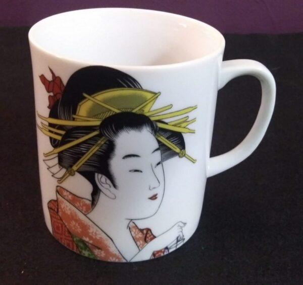 1c Two Toned Kimono Geisha Cup