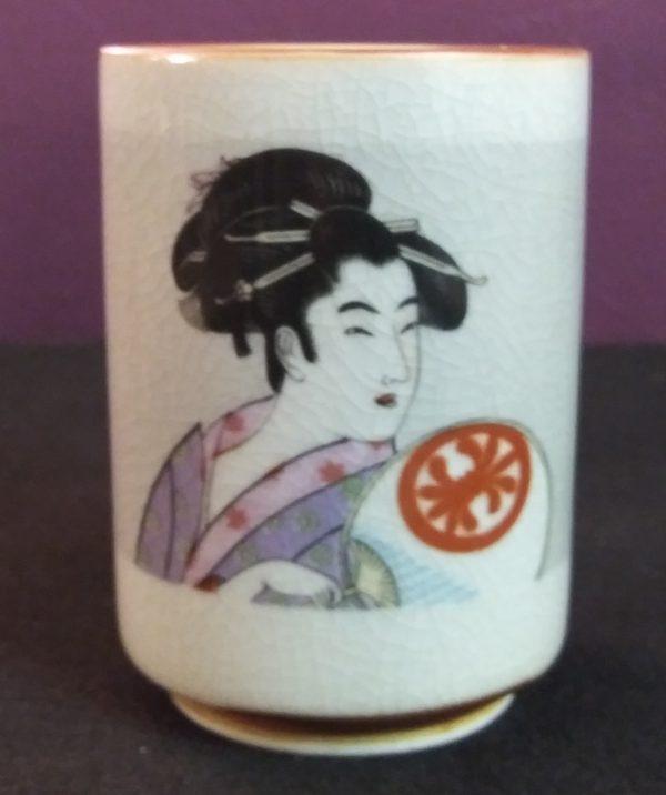 5 Lavendar & Pink Geisha Cup