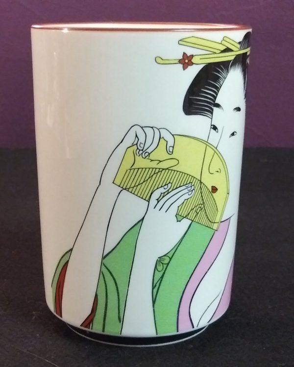 3b Green & Pink Geisha Cup