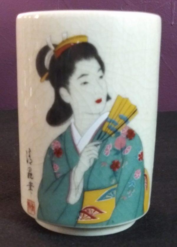 4c Teal & Gold Geisha Cup