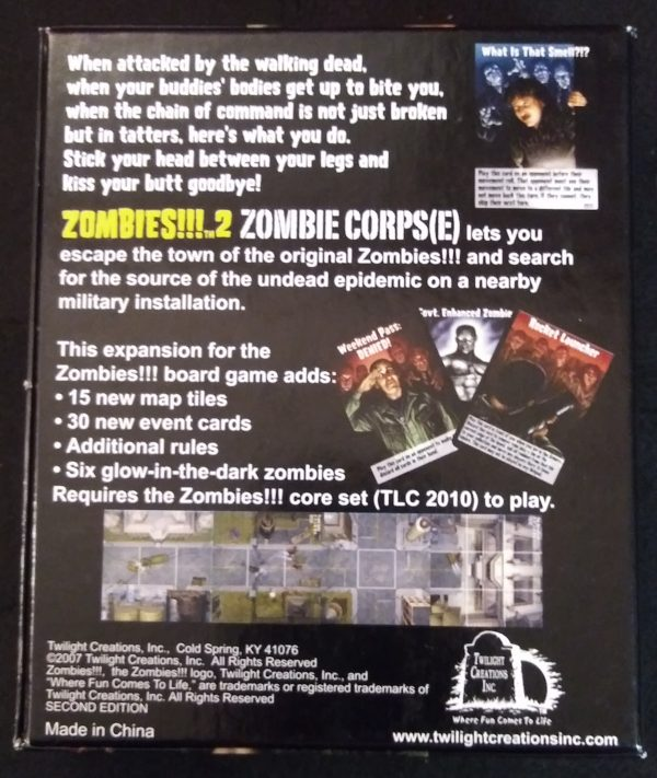 ZOMBIES!!! 2: ZOMBIE CORPS(E) Board Game Expansion Pack