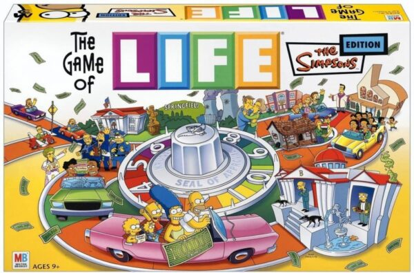 Hasboro The Game of Life The Simpsons Edition Vintage Discontinued Game